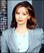[ image: Calista Flockhart as Ally McBeal: 13 nominations]