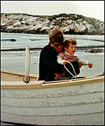 [ image: JFK Jnr learnt to love the sea on his earliest holidays with his father]