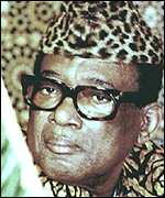 [ image: Mobutu Sese Seko: His pet leopard is believed to stalk the town]