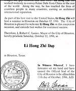 [ image: Honoured: Houston and Chicago have welcomed Li]