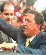 [ image: Mr Chavez says the assembly will rid the country of corruption and inefficiency]