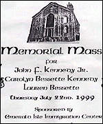 [ image: The order of service for the Kennedy memorial mass]