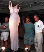 [ image: The revealing silk beaded dress Monroe wore to serenade a president]