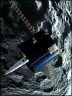 [ image: Lunar Prospector has surveyed the Moon for 18 months]