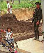 [ image: In San Vicente del Caguan, as in many southern towns, FARC are in open control]