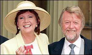 Side by side: Bobby with Cilla when she received her OBE in 1997