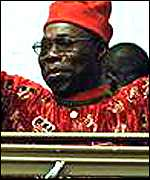 [ image: President Obasanjo has promised to fight corruption in public life]