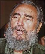 [ image: Fidel Castro: Criticised by the US for human rights abuses]
