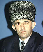 [ image: Chechnya's President Maskhadov has been the target of assassination attempts]