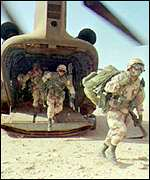 [ image: The CH-47D was used extensively in the Gulf War]