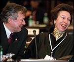 [ image: Tony Banks amuses Princess Anne]