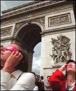 People gather in Paris for the eclipse
