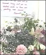 [ image: Flowers were left in memory of the bomb victims]