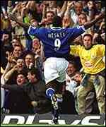 [ image: Emile Heskey scores the Foxes first goal]