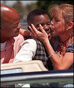 [ image: Todd Willis, Gary Coleman and Dana Plato in 1997]
