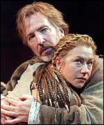 [ image: Anthony and Cleopatra: Mirren and Alan Rickman on stage in 1998]