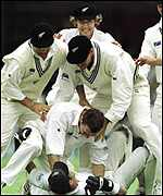 [ image: New Zealand celebrate a thoroughly deserved 2-1 series win]