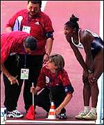 [ image: Denise Lewis: Controversial long-jump decision]