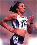 [ image: Kelly Holmes: Struggled in the 800m semi-finals]