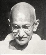 [ image: Gandhi: Father of non-violent protest]