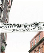 [ image: Mathew Street: Centre of the festivities]