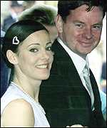 [ image: John Gordon Sinclair attending Prince Edward's wedding, with Ruthie Henshall]