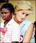 [ image: Diana was high profile campaigner against landmines]