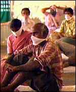 [ image: Pneumonic plague sufferers in India]
