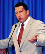 [ image: President Chavez say reforms are needed to rid the country of corruption]