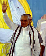 [ image: Mr Vajpayee: Warning of election law changes]