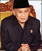 [ image: B J Habibie: Asked to honour result]