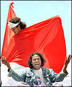 [ image: Supporters of Indonesian rule will vote for the autonomy plan]