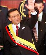 [ image: Prime Minsister Jamil Mahuad has to steer Ecuador through the crisis]
