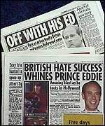 [ image: How the Mirror and the Sun reported Prince Edward's comments]