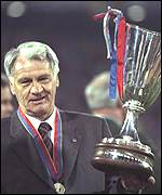 Robson led Barcelona to Cup Winners' Cup glory against his former club PSV in 1997