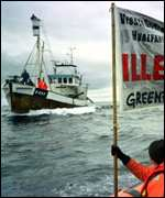 [ image: Greenpeace and the whalers square up]