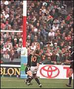 [ image: Joel Stransky drops the winning points at Ellis Park]