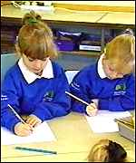 [ image: Pupils get down to work at the start of a new term]