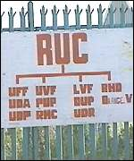 [ image: There is clear opposition to the RUC in nationalist west Belfast]