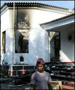 [ image: Bishop Carlos Belo's home was attacked by the militias]