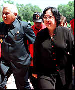 [ image: Megawati is opposed to East Timorese independence]