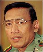 [ image: General Wiranto has dismissed talk of a coup]