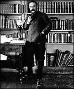 [ image: Kipling in his libary at his house in Vermont]