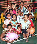 [ image: The lucky ones: Timorese children who have been evacuated to Australia]