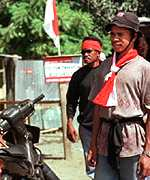 [ image: The militias can operate freely in Timor and on Alor]