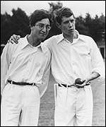 [ image: Howzat: Crawford and his friend John Lennon]