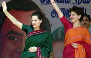 image: [ After a life of guarded privacy, Sonia Gandhi (left) joins the world of politics ]