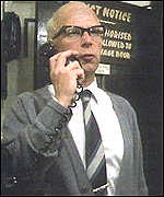 [ image: Wells in his most famous role as  Denis Thatcher]