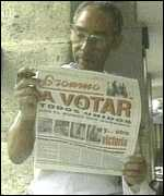 [ image: State-run media has urged Cubans to vote even though their is no choice of candidates]