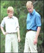 [ image: William and Harry to be played by two London lads]